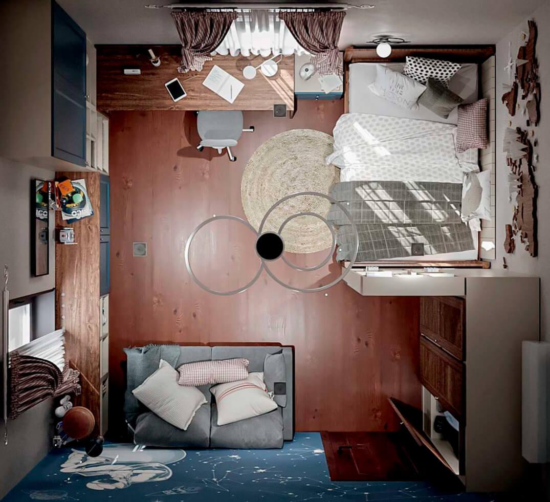 Мебель детской комнаты школьника-подростка проект 5475-6