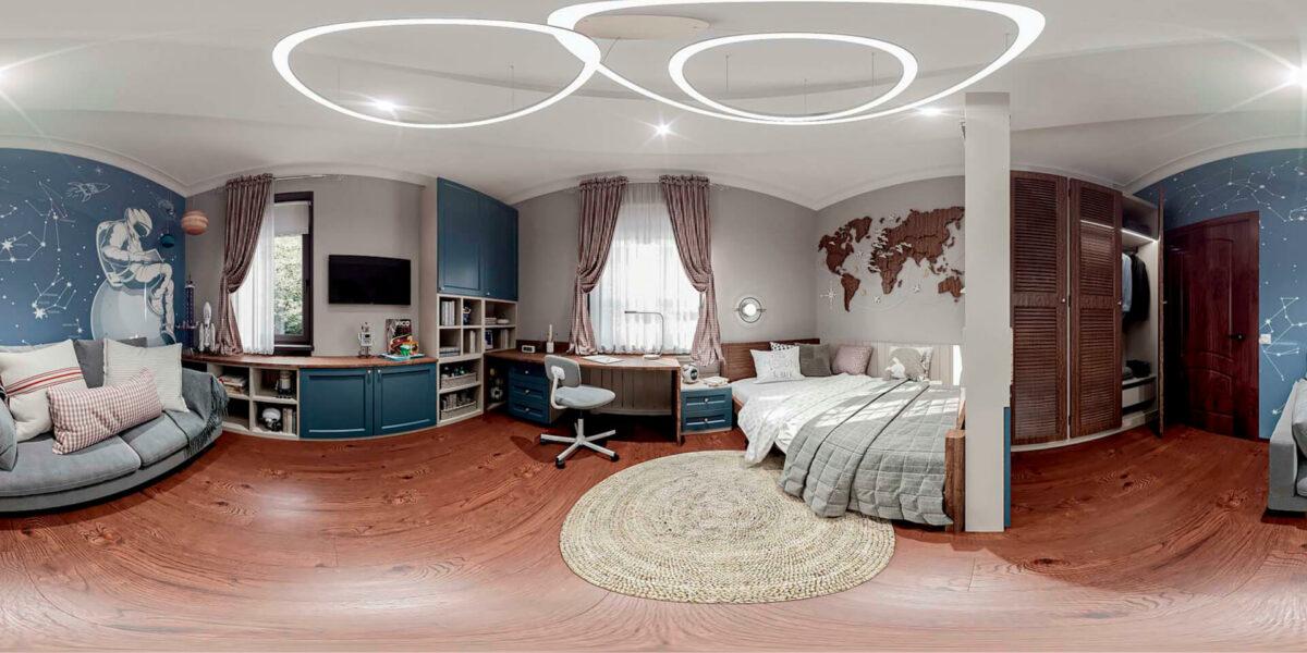 Мебель детской комнаты школьника-подростка проект 5475-7
