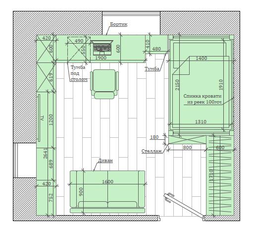Мебель детской комнаты школьника-подростка проект 5475-8