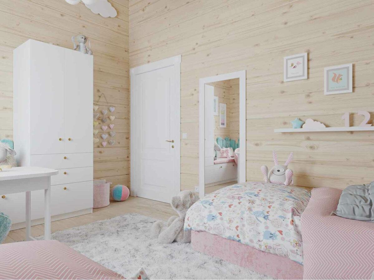 Мебель детской спальни 2 девочек проект 4023-1