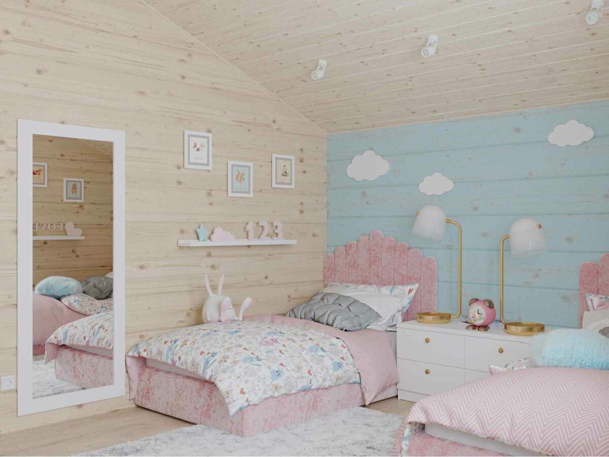 Мебель детской спальни 2 девочек проект 4023-2