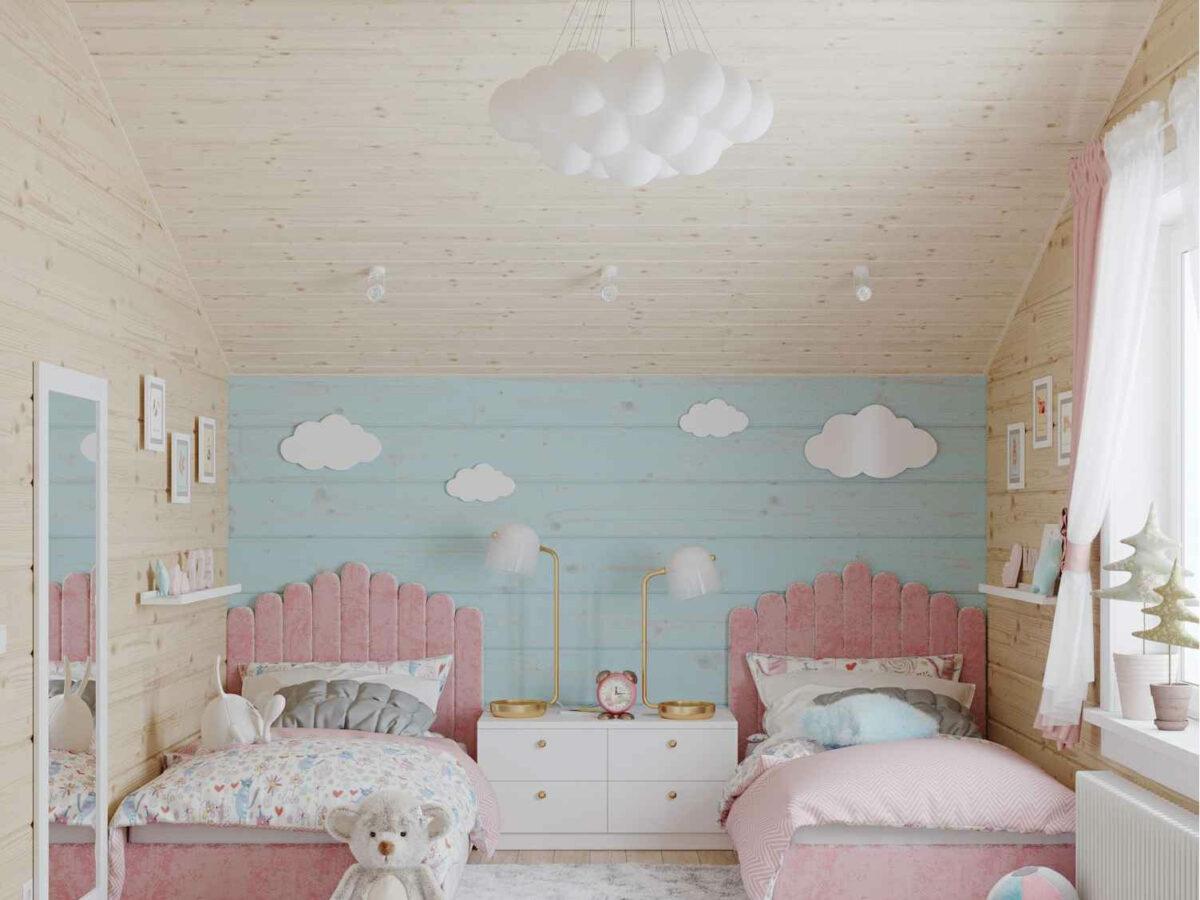 Мебель детской спальни 2 девочек проект 4023-3