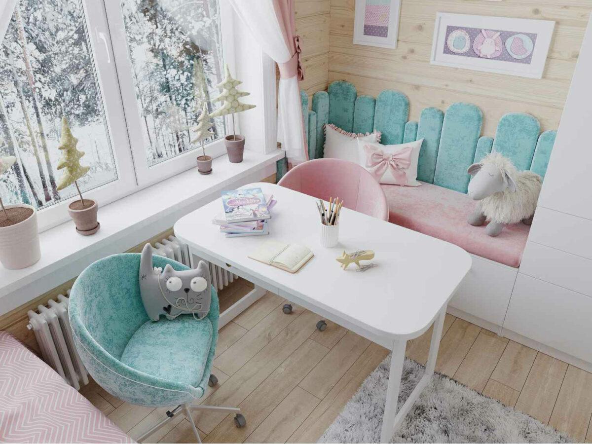 Мебель детской спальни 2 девочек проект 4023-5