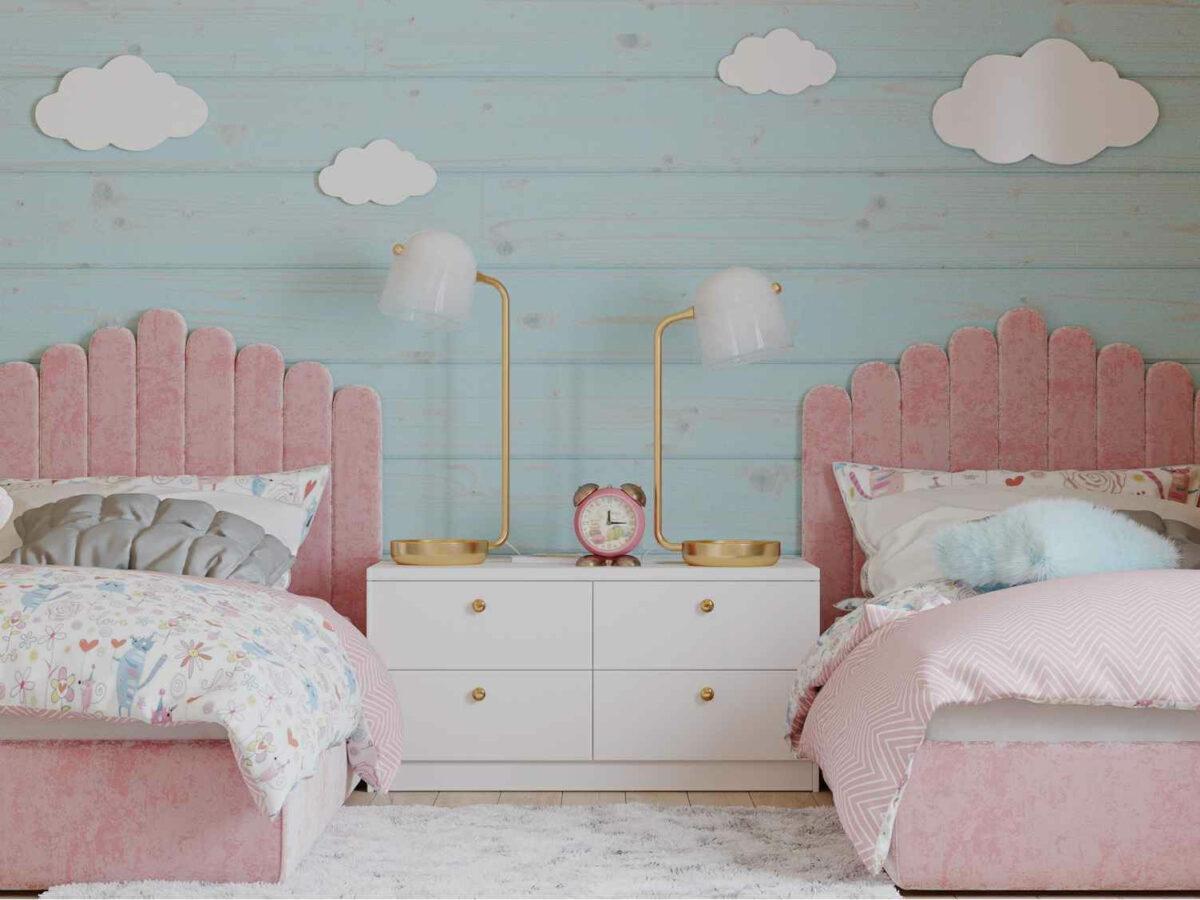 Мебель детской спальни 2 девочек проект 4023-6