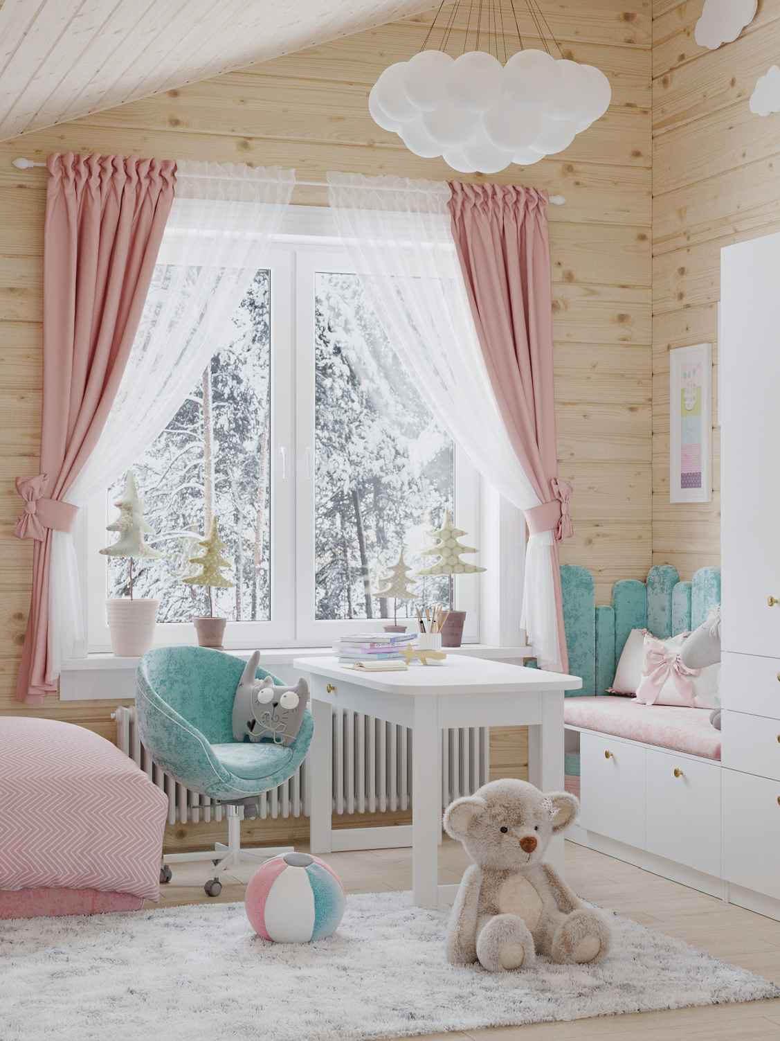 Мебель детской спальни 2 девочек проект 4023-7