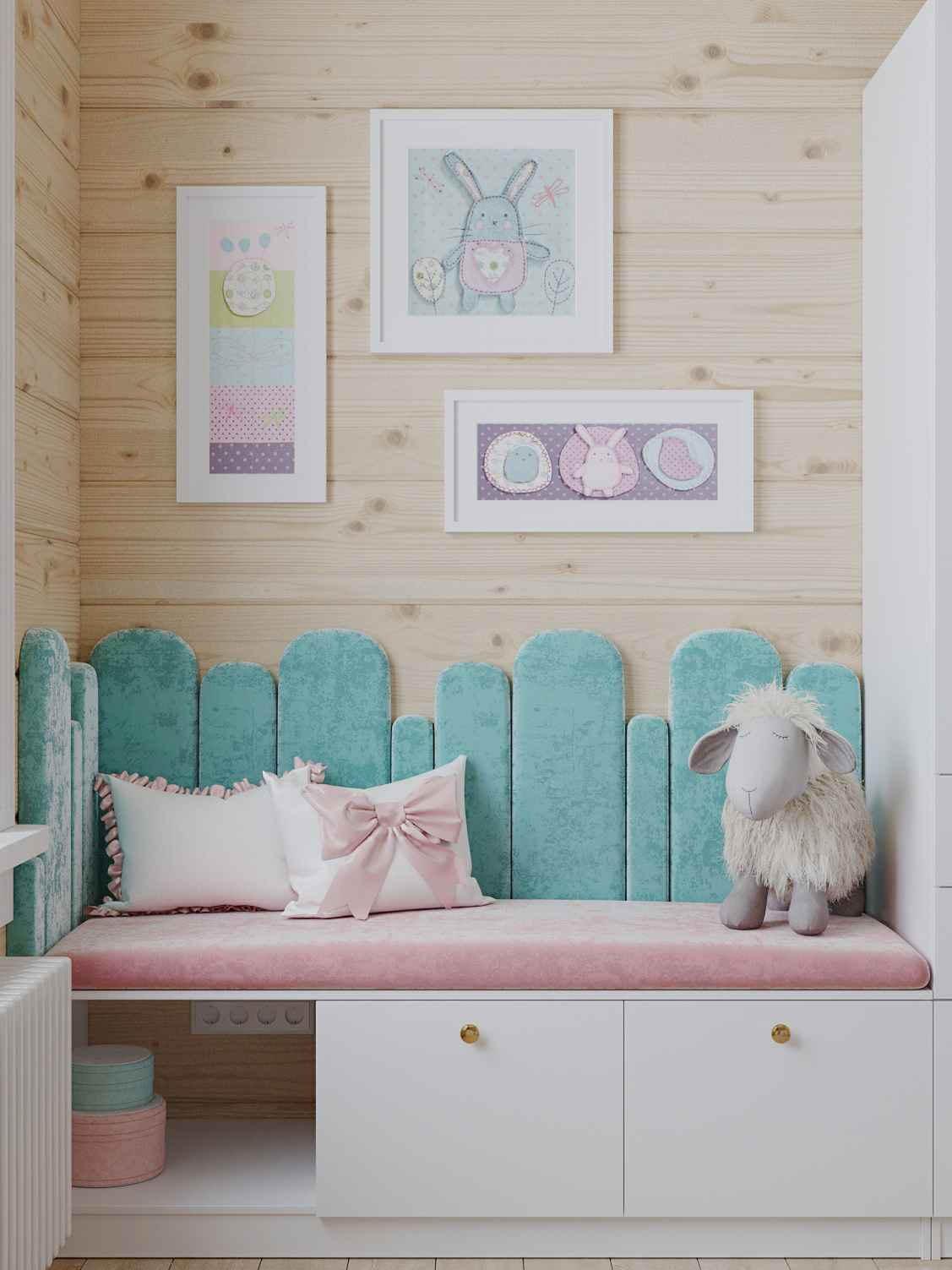 Мебель детской спальни 2 девочек проект 4023-9
