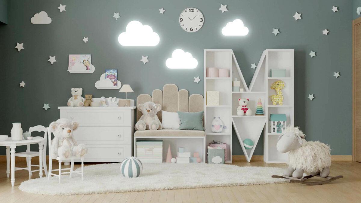 Мебель детской спальни 2 девочек проект 4263-1