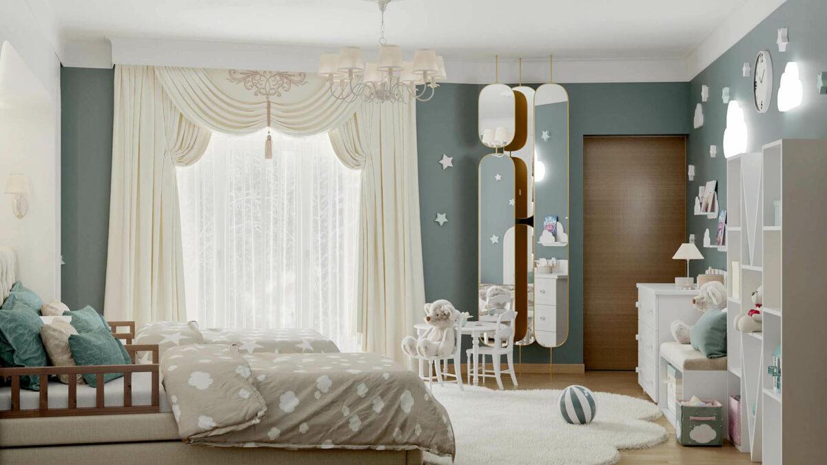 Мебель детской спальни 2 девочек проект 4263-2