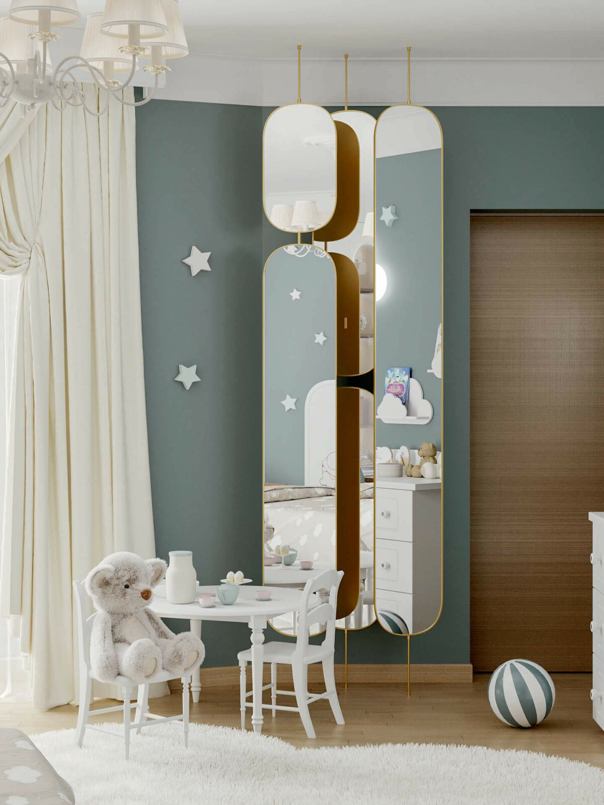 Мебель детской спальни 2 девочек проект 4263-4