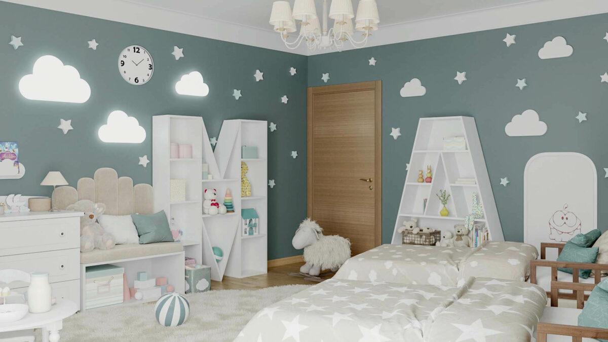 Мебель детской спальни 2 девочек проект 4263-6