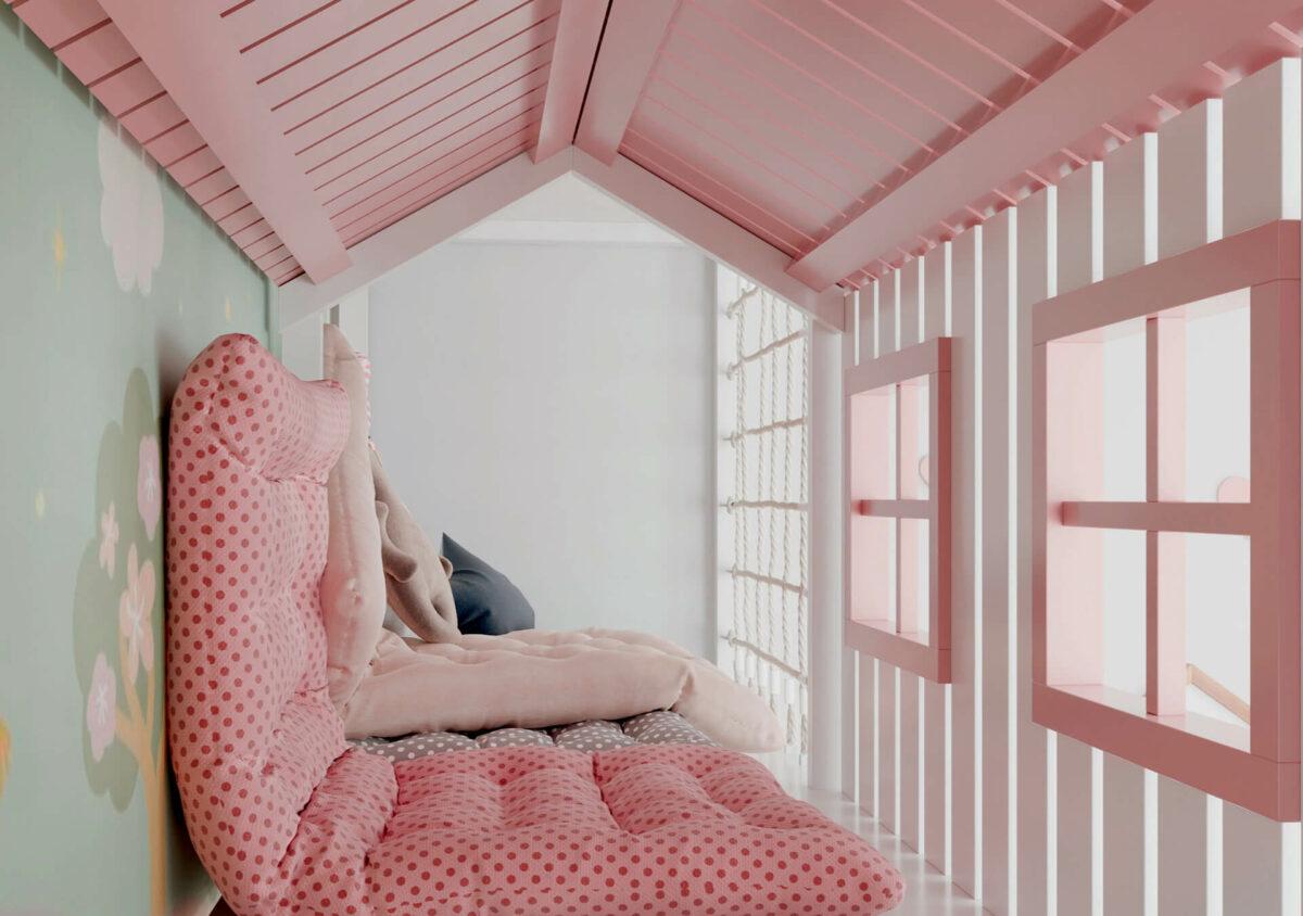 Мебель детской спальни 2 девочек проект 4359-2