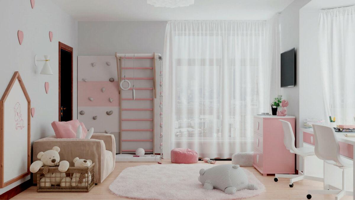 Мебель детской спальни 2 девочек проект 4359-3
