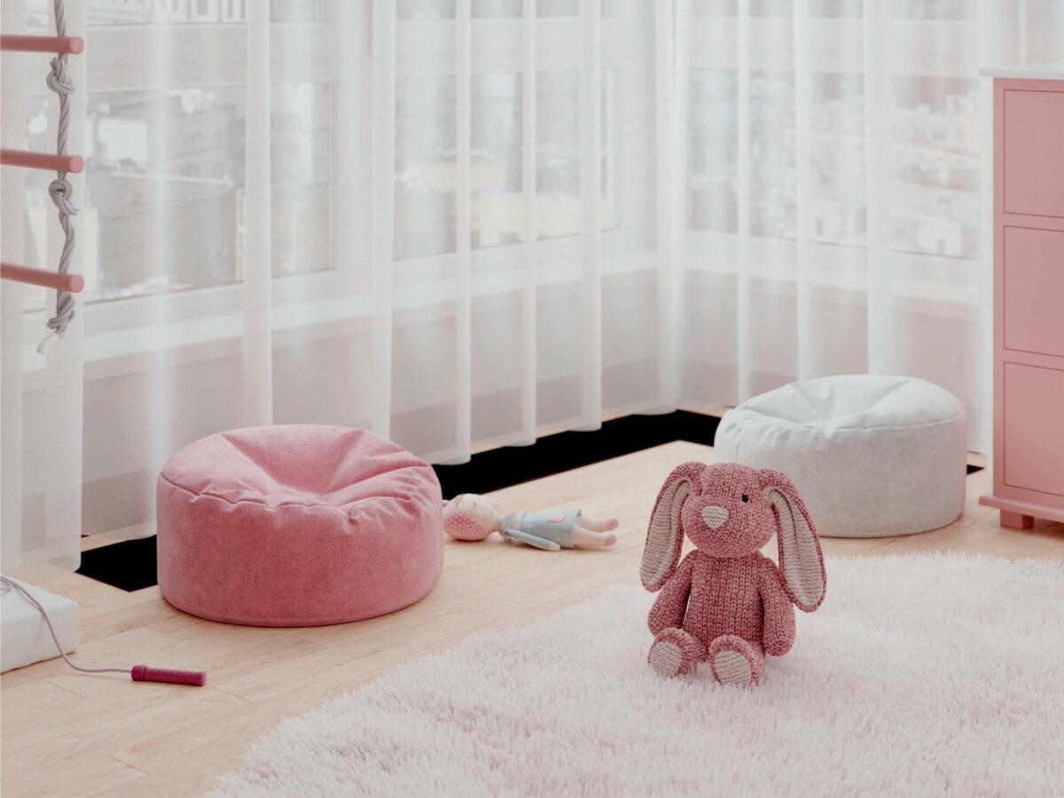 Мебель детской спальни 2 девочек проект 4359-7
