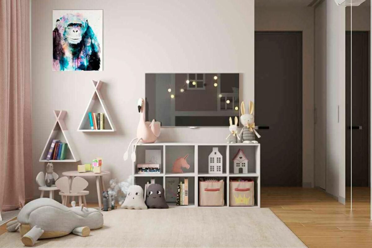 Мебель детской спальни 2 девочек проект 4881-3