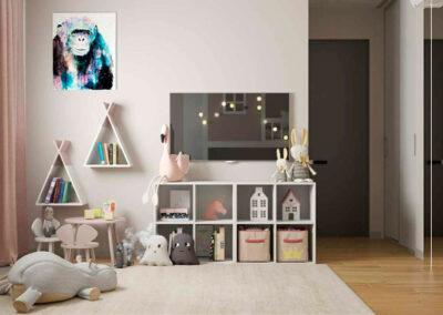 Мебель в скандинавском стиле в детскую спальню 2 девочек — проект 4881