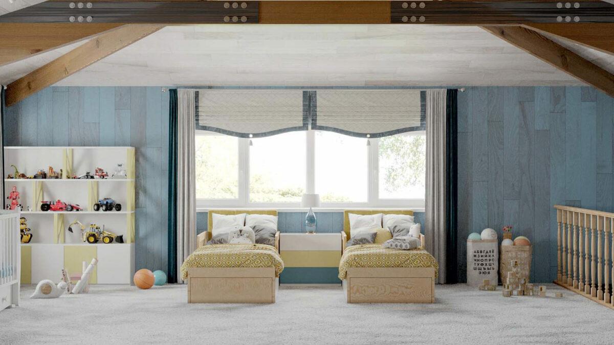 Мебель детской спальни 2 мальчиков проект 5089-2-2