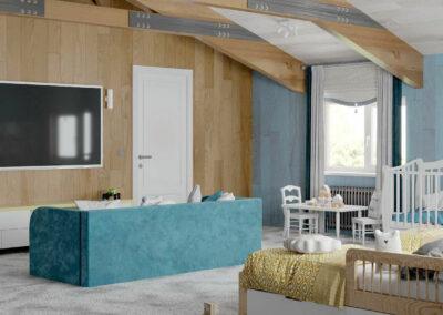 Мебель в детскую спальню для двух мальчиков — проект 5089-2