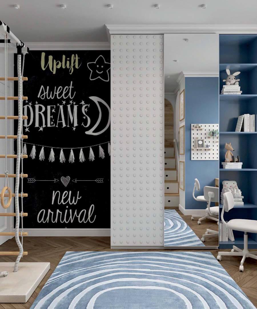 Мебель детской спальни 2 мальчиков-школьников проект 4195-2