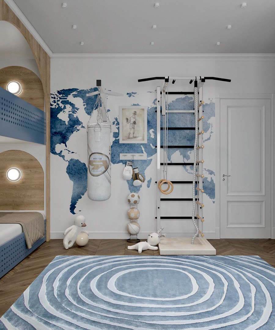 Мебель детской спальни 2 мальчиков-школьников проект 4195-7