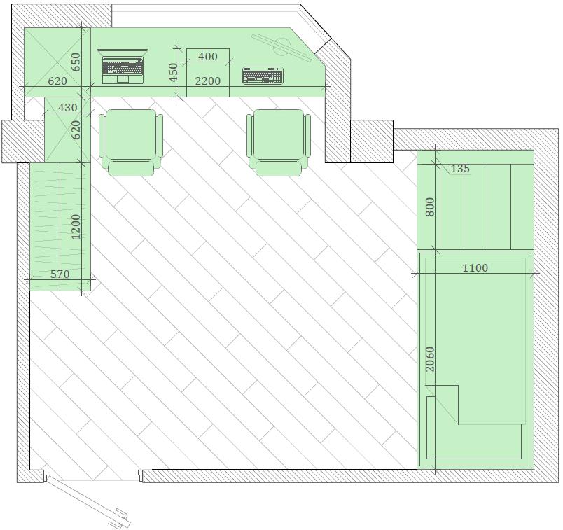 Мебель детской спальни 2 мальчиков-школьников проект 4195-9
