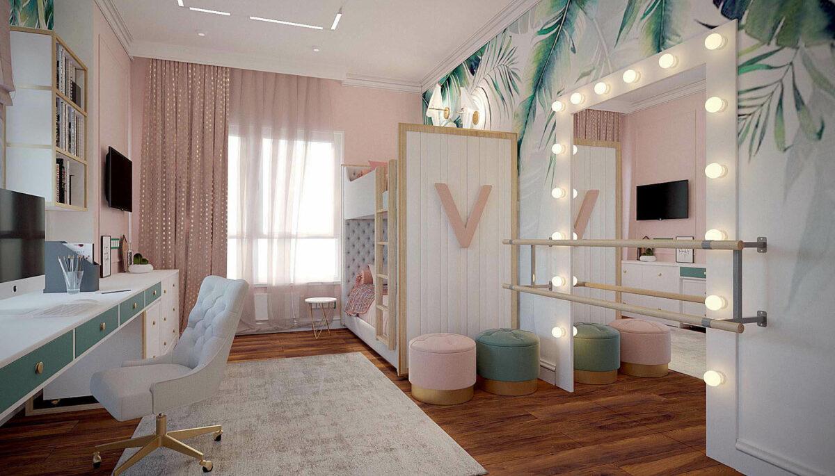 Мебель детской спальни девочки проект 3427-1-1