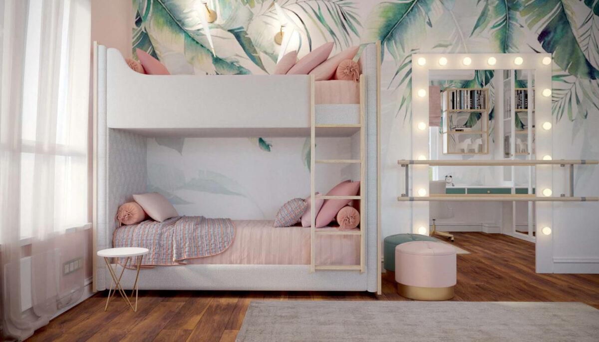 Мебель детской спальни девочки проект 3427-1-2