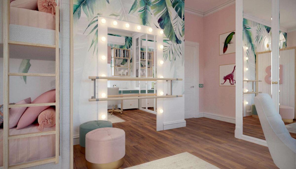 Мебель детской спальни девочки проект 3427-1-4