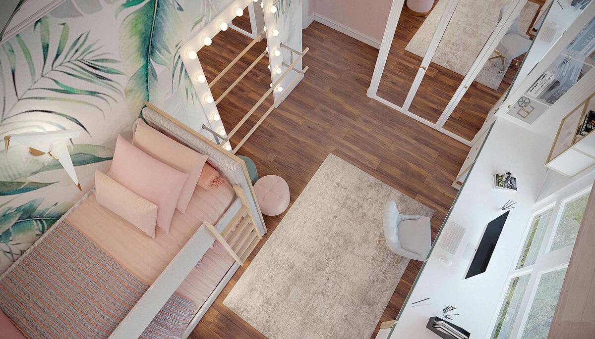 Мебель детской спальни девочки проект 3427-1-5