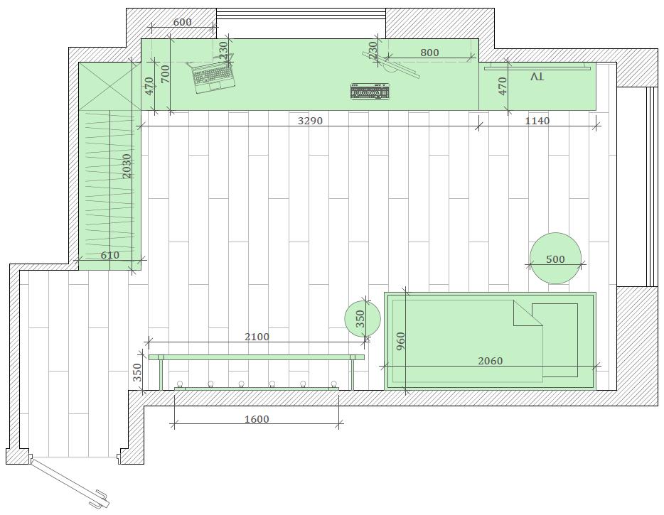 Мебель детской спальни девочки проект 3427-1-6