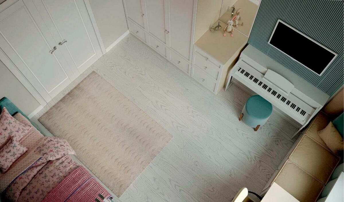 Мебель детской спальни девочки проект 39871-2