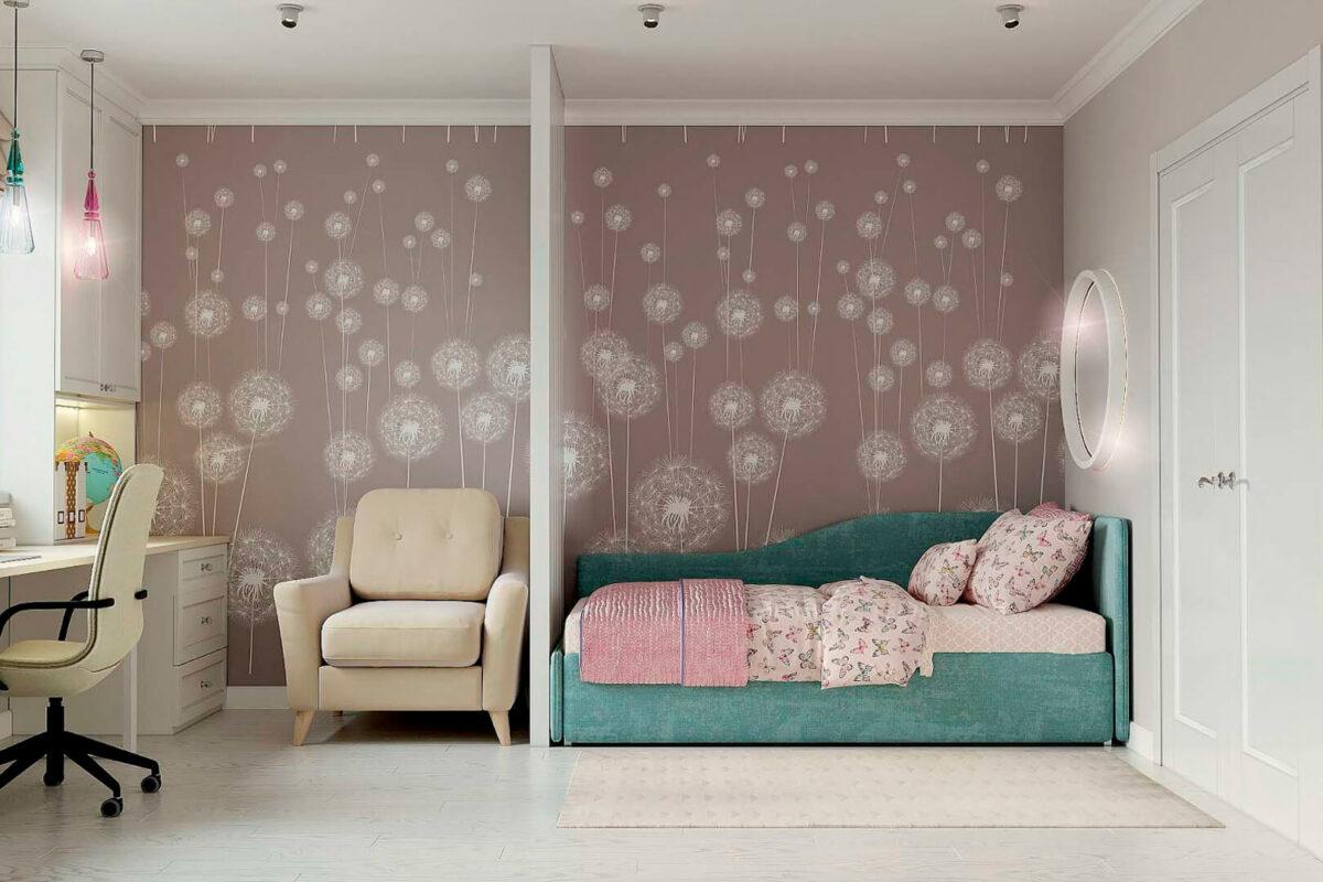 Мебель детской спальни девочки проект 39871-4