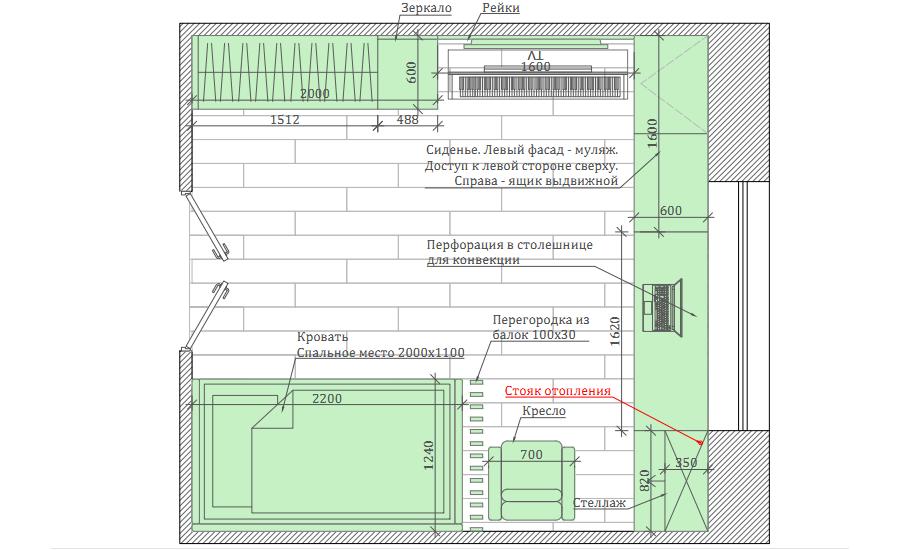 Мебель детской спальни девочки проект 39871-5