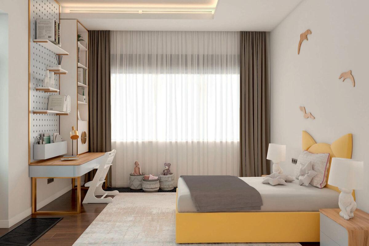 Мебель детской спальни девочки проект 4243-2-1