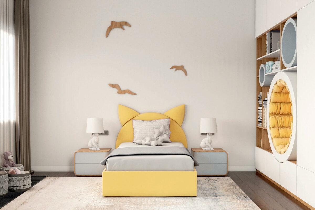 Мебель детской спальни девочки проект 4243-2-2