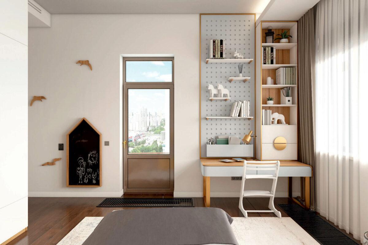 Мебель детской спальни девочки проект 4243-2-3