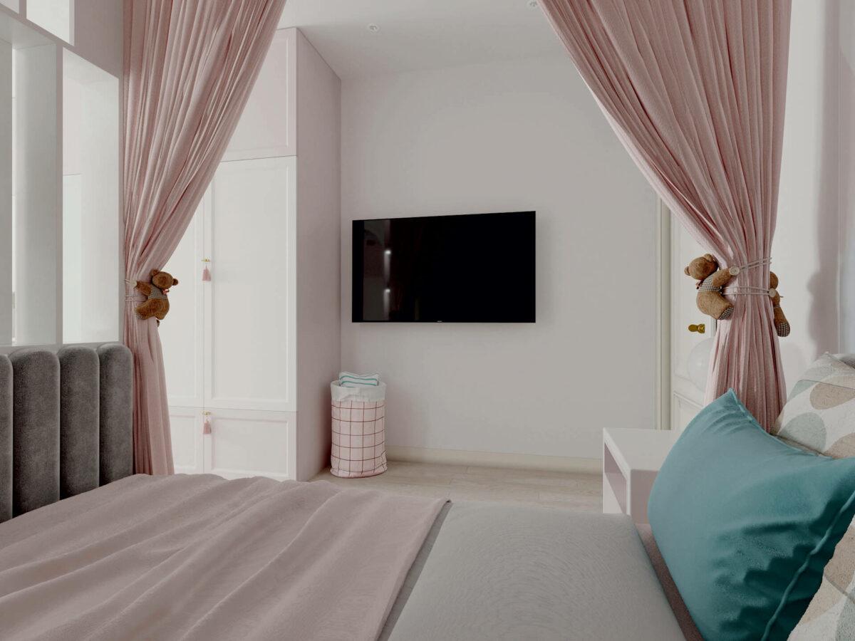 Мебель детской спальни девочки проект 5195-2