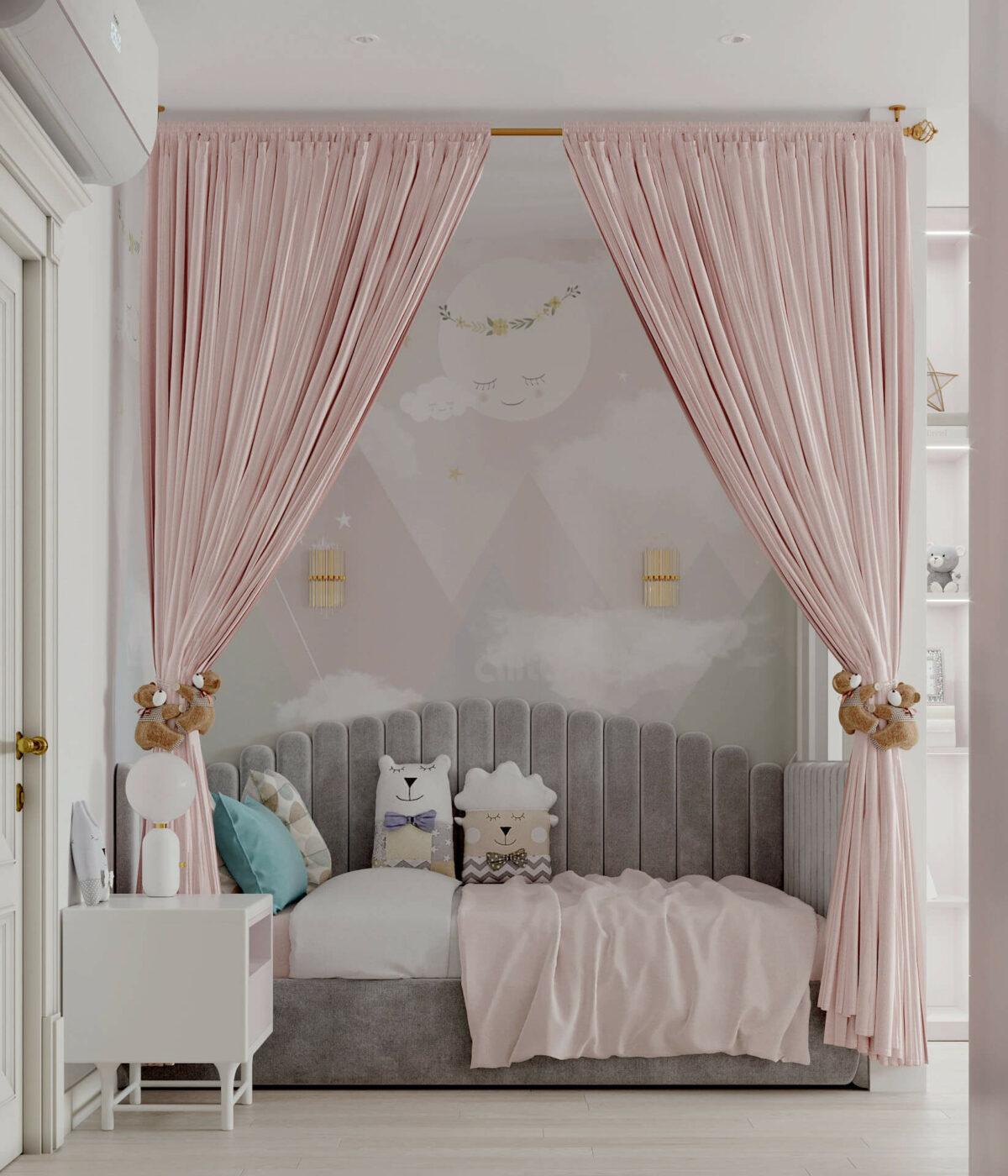 Мебель детской спальни девочки проект 5195-3