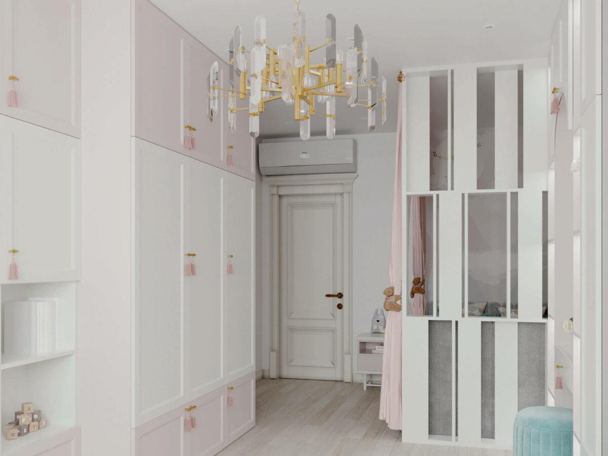 Мебель детской спальни девочки проект 5195-8