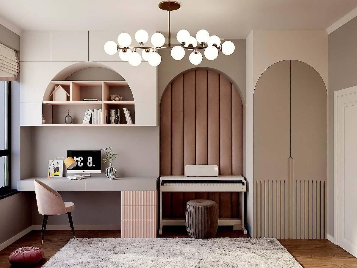 Мебель детской спальни девочки 6-9 лет проект 4007-3