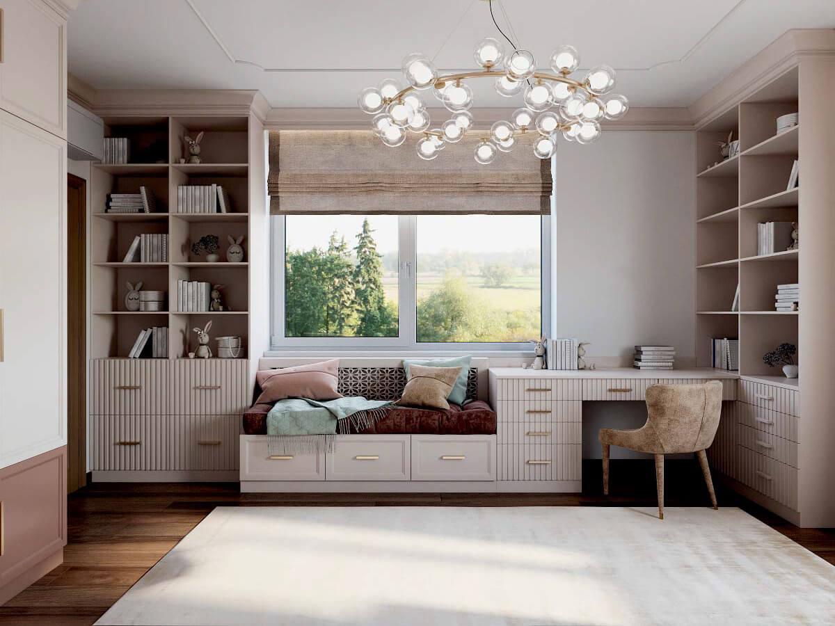 Мебель детской спальни девочки 8-12 лет проект 3825-1