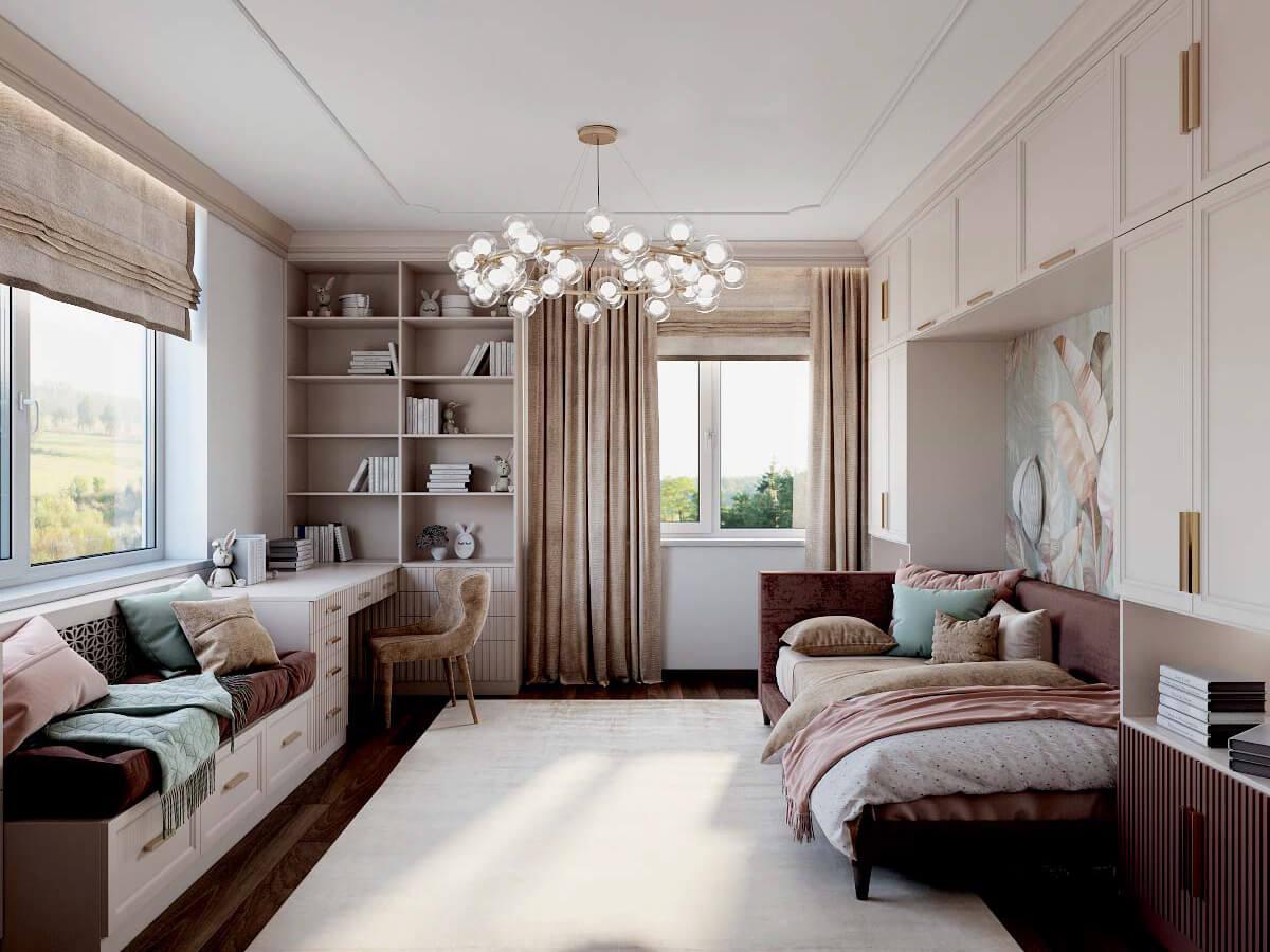 Мебель детской спальни девочки 8-12 лет проект 3825-2
