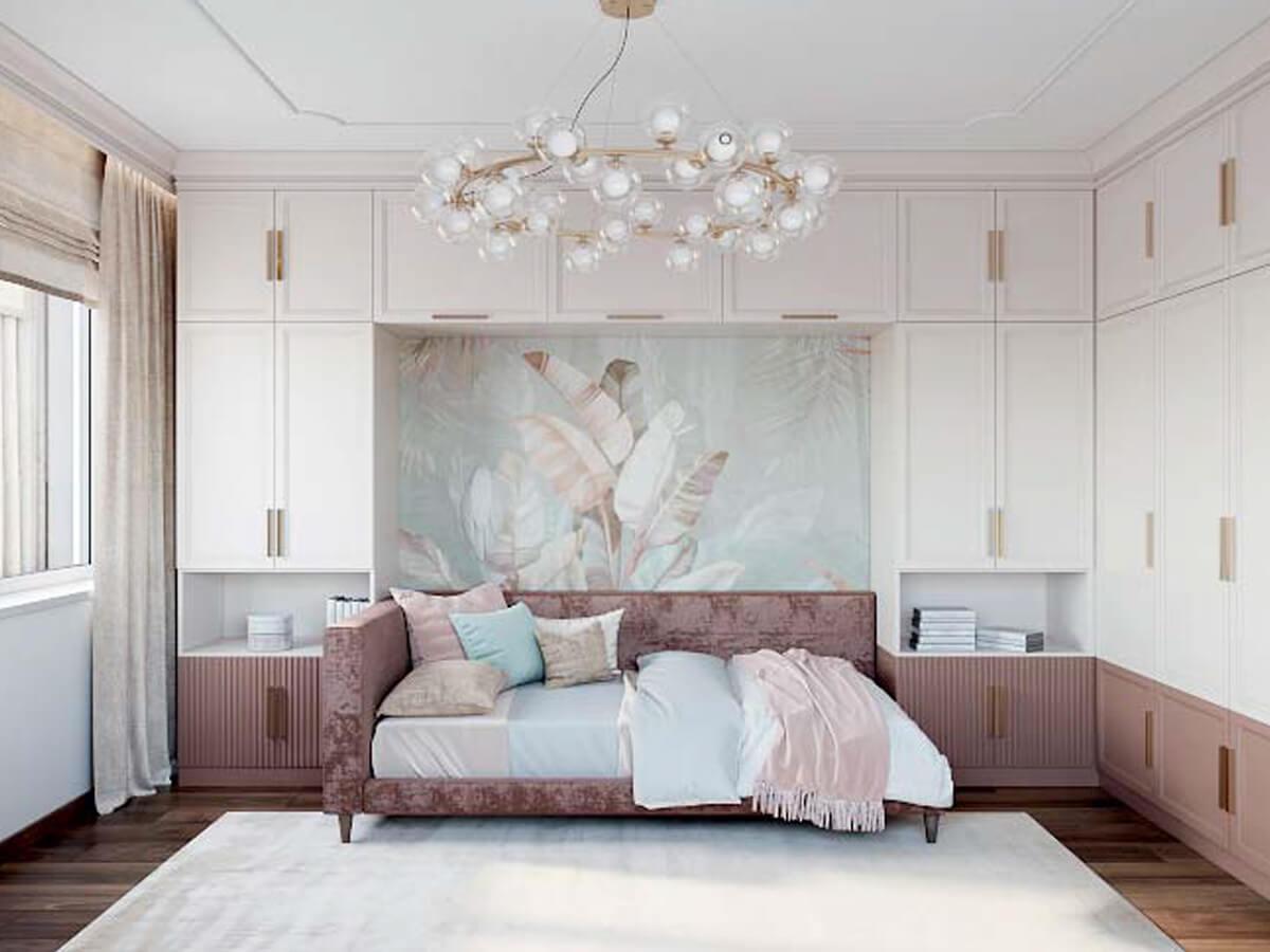 Мебель детской спальни девочки 8-12 лет проект 3825-3