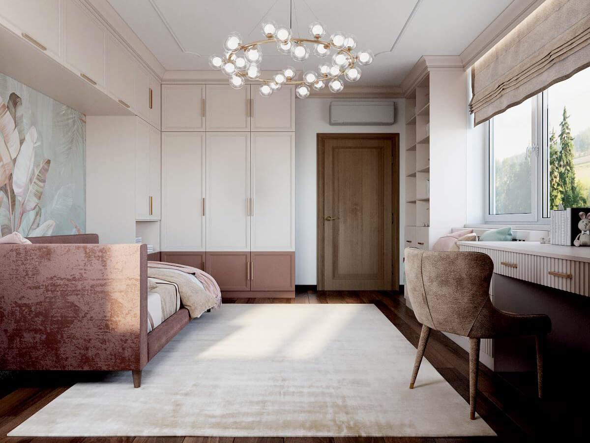 Мебель детской спальни девочки 8-12 лет проект 3825-4