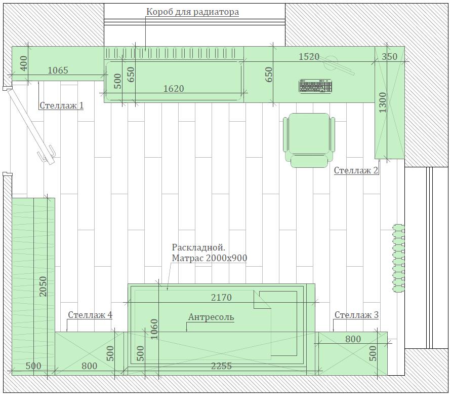 Мебель детской спальни девочки 8-12 лет проект 3825-5