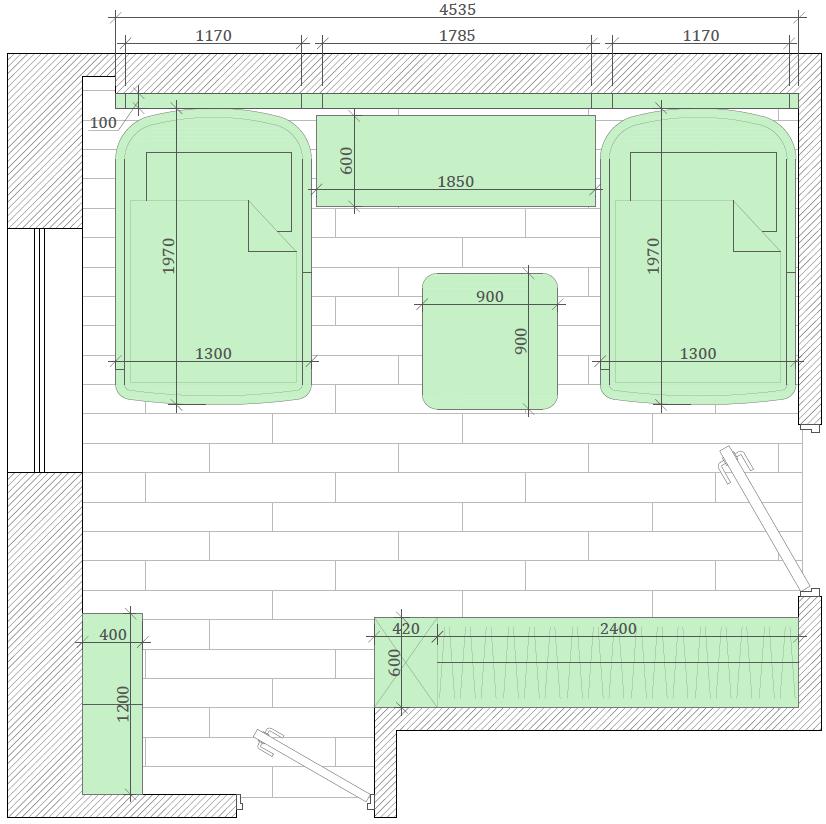 Мебель детской спальни девочки 8-12 лет проект 4041-10