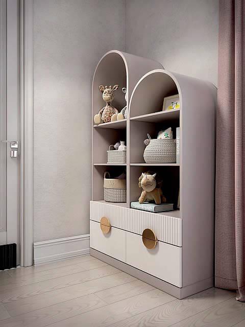 Мебель детской спальни девочки 8-12 лет проект 4041-3