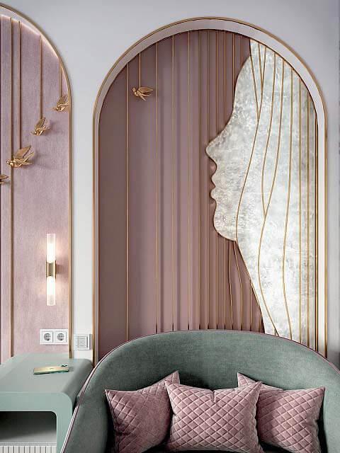 Мебель детской спальни девочки 8-12 лет проект 4041-4