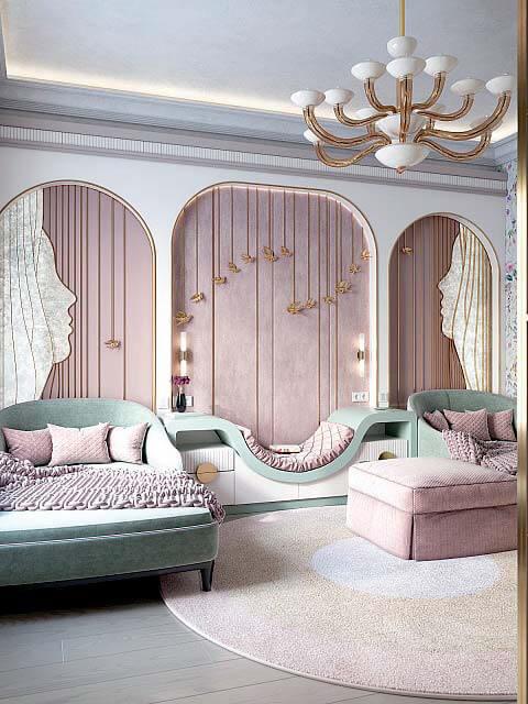Мебель детской спальни девочки 8-12 лет проект 4041-6
