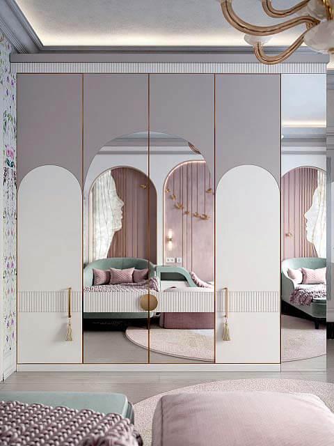 Мебель детской спальни девочки 8-12 лет проект 4041-7