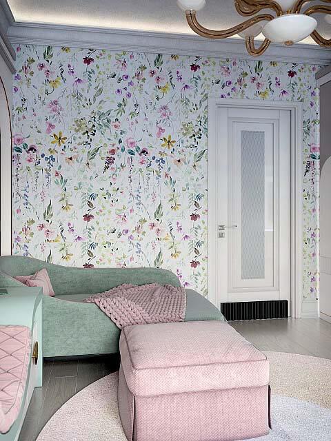 Мебель детской спальни девочки 8-12 лет проект 4041-8